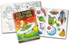 4 x A6 Activity Sticker Books, Pirate, Princess, Alien - Party Bag Fillers, Toys