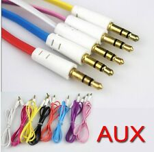 3.5mm Audio Flat Male to Male Stereo Car Aux Cords AUX Cables 1M for mp3 phone