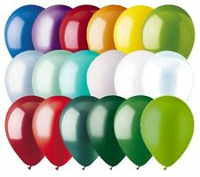 "12 - 12"" Solid Latex Balloons Christmas Inspired Color Palette Wedding Birthday"