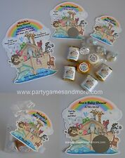 NOAH'S ARK BABY SHOWER, BAPTISM, BIRTHDAY INVITATIONS, FAVOR TAG, CANDY LABEL