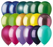 """48- 12"""" Solid Latex Balloons Mardis Gras Inspired Color Palette Wedding Birthday"""