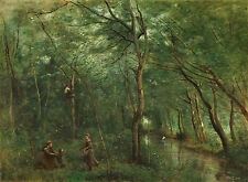"""Camille Corot : """"The Eel Gatherers"""" (1860/1865) — Giclee Fine Art Print"""