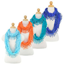 Elegant Sheer Lace Infinity Loop Circle Fashion Scarf - Different Colors