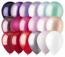 "48- 12"" Solid Latex Balloons Valentine's Day Inspired Color Palette Love Wedding"