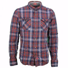 Superdry Casual Shirt Red white blue checkered M40LE020F1 Red Check