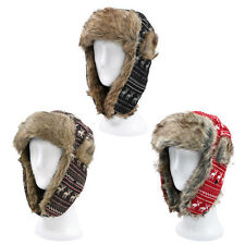 Warm Winter Reinedeer Faux Fur Trapper Ski Snowboard Hunter Bomber Hat, 3 Colors