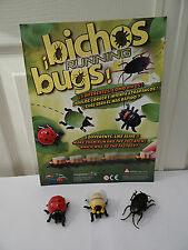 Creepy crawling pull back running bugs toy figures great for scaring people