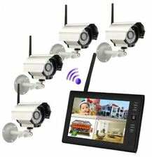 "9"" TFT LCD Monitor 2.4GHz 4CH Wireless DVR Security System with Outdoor Camera"