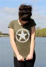 US Army WWII Military White Star Retro M*A*S*H ladies vintage T-shirt