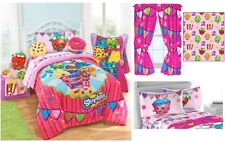 NEW KIDS SHOPKINS BEDDING BED IN A BAG / COMFORTER SET - 3 PRINTS