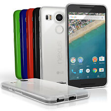 Glossy TPU Gel Case for LG Nexus 5X Gel Skin Soft Cover + Screen Protector