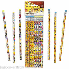 8 Official Emoji Smiley Face Birthday Party Favours Loot Stationery Pencils