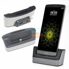 USB Dual Cradle Desk Dock Charger Battery Charge OTG Sync Cable for LG G5