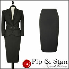 NEXT UK12/10 US8/6 EU40/38 BROWN 50S STYLE PENCIL SKIRT SUIT WOMEN LADIES SIZE