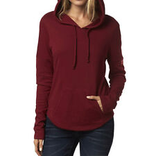 Fox Racing Womens Pomegranate Red Colder Pullover Hoody Hooded Sweater