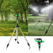Tripod Impulse Sprinkler Pulsating Telescopic Watering Grass Lawn Yard Use Tool