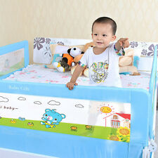 Baby Safety Bedrail Cartoon Infant Sleeping Guard Rail Folding Toddler Bed Rail