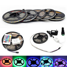5m 300LEDs Flexible LED Strip Light RGB Cool Warm White SMD 5050 3528 12V Strip