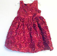 Holiday Editions Toddler Girls Flower and Sequins Dress Size 3T NWT