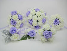 Wedding Bouquets Ivory, Ice Lilac with Shimmer Sparkle, Posy, Bride, Flowergirl