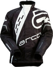 Arctiva Mens Black/White Comp RR Shell Uninsulated Snowmobile Jacket
