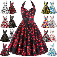 Retro Vintage Style Swing 40s 50s 1950s Floral Pinup l EVENING Prom TEA  Dress