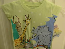 """NWT Dr. Seuss Toddler Girls """"Horton Hatches The Egg"""" SS Sparkly Tee: Sizes 2T-4T"""