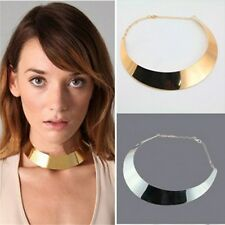 Fashion Women Jewelry Punk Style Gold/Silver Metal Crescent Bib Collar Necklace