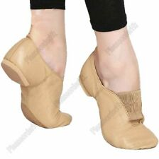 Kids Adults Jazz Ballet Dance Gym Shoes Genuine Leather Split Sole Professial