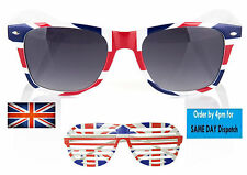 Sunglasses Retro Vintage 80's Geek Mens Womens Union Flag Souvenir