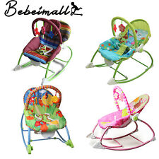 Unisex Baby Bouncer Recline Chair Infant Soothing Music Vibration Toy Adjustable