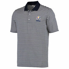 adidas 2016 Ryder Cup Navy/White Performance 3-Color Stripe Polo
