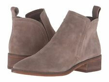 Women's Shoes Dolce Vita Tessey Casual Suede Ankle Bootie Dark Taupe *New*