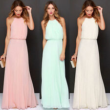 Sexy Long Chiffon Evening Formal Party Cocktail Dress Bridesmaid Prom Gown Hot