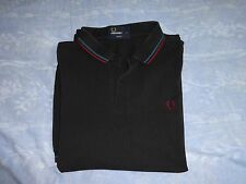 men,s fred perry polo shirt, black, size medium