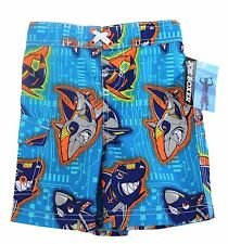 Joe Boxer Baby Toddler Boys Graphic Swimming Trunks Shorts Blue Sharks 18M 24M