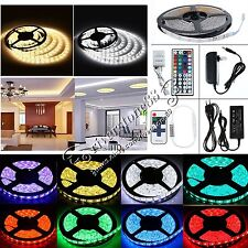 5M RGB 5050 3528 SMD Non/Waterproof 300 Leds Strip Light Remote&12V Power Supply