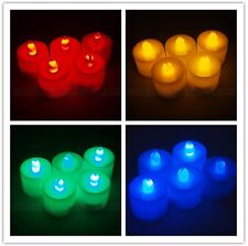 24 Flickering Light Flameless Battery LED Tealight Tea Candles Wedding Party