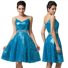 Sequin Wedding Party Junior Short Bridesmaid Dress Evening Prom Cocktail Dresses