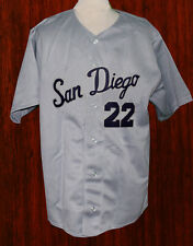 SAN DIEGO PADRES PCL RETRO BASEBALL JERSEY 1965 BUTTON-DOWN SEWN NEW   ANY SIZE