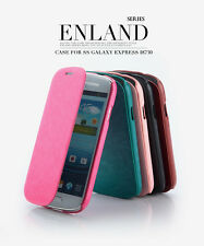 Genuine KLD Enland Slim Flip Leather Case Cover For Samsung Galaxy Express i8730