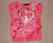 BABY PHAT Girls Peach Short Sleeve Top Size- 4 NWT