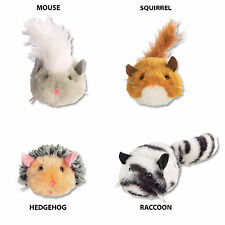 Zanies Skedaddles Plush Cat Toy Animals - Pull String for Toy Movement