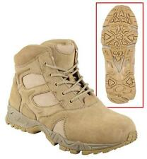 """Force Entry 6"""" Deployment Boot - Desert Tan - Suede Leather with Mesh"""