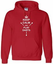 Darts Personalised Hoodie Keep Calm Darts Hoody With Name Hooded Sweat S-XXL