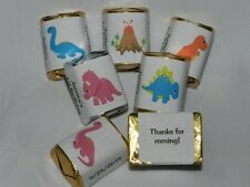 30 PERSONALIZED DINOSAUR BABY SHOWER BIRTHDAY PARTY HERSHEY'S NUGGET CANDY LABEL