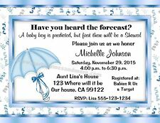 UNIQUE PERSONALIZED BABY SHOWER UMBRELLA PARTY INVITATIONS OR THANK YOU CARDS