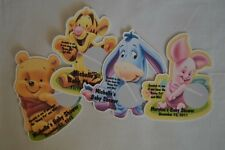 WINNIE THE POOH, TIGGER, EEYORE, PIG BABY SHOWER BIRTHDAY SCRATCH OFF LOTTO GAME