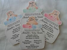 UNIQUE PERSONALIZED PARTY FAVOR BABY SHOWER BOTTLE INVITATION OR THANK YOU CARDS