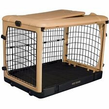 """Pet Gear The Other Door Tan Steel Dog  Crates in 27"""",36"""", and 42"""" sizes"""